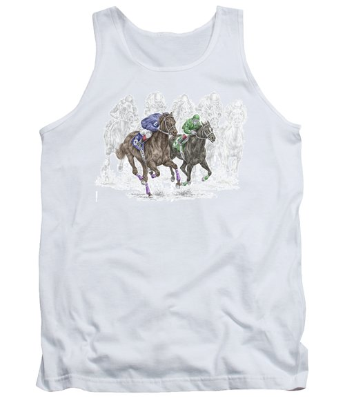 The Thunder Of Hooves - Horse Racing Print Color Tank Top