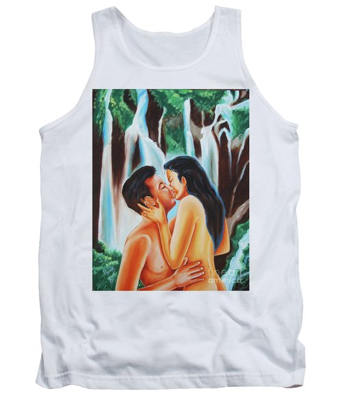 Tank Top featuring the painting The True Nature Of Happiness by Ragunath Venkatraman