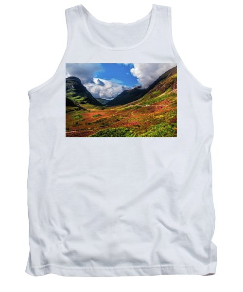 The Valley Of Three Sisters. Glencoe. Scotland Tank Top