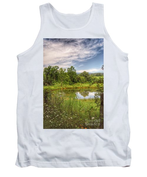 Tank Top featuring the photograph The View Along Deerfield Trail by Kerri Farley