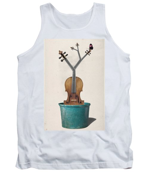 The Voilin Plant Tank Top by Keshava Shukla