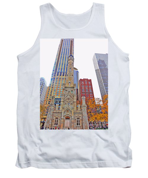 The Water Tower In Autumn Tank Top by Mary Machare