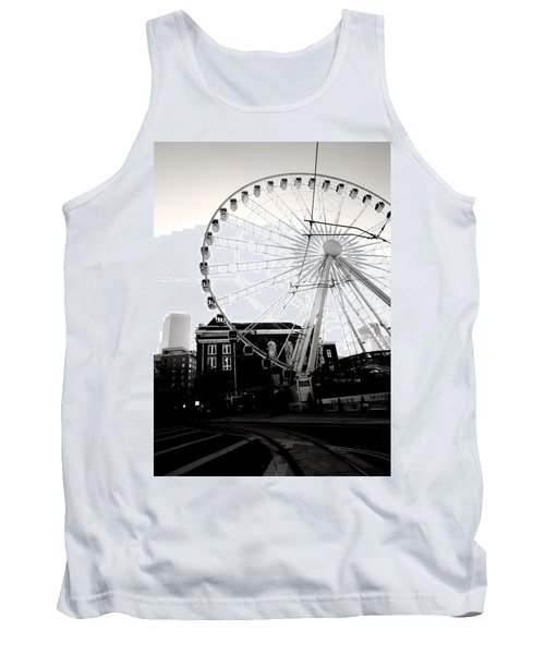 The Wheel Black And White Tank Top