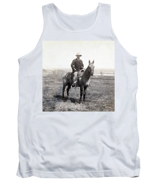 Theodore Roosevelt Horseback - C 1903 Tank Top by International  Images