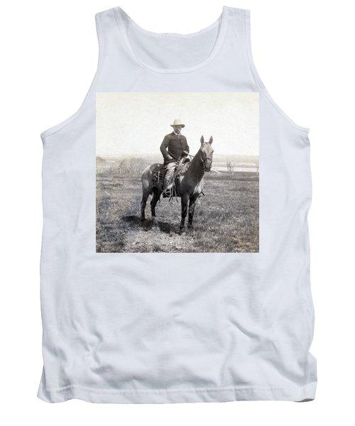 Theodore Roosevelt Horseback - C 1903 Tank Top