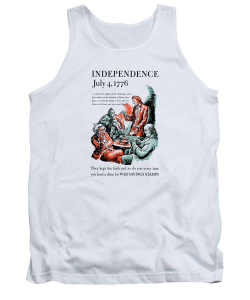 They Kept The Faith - Ww2 Tank Top by War Is Hell Store