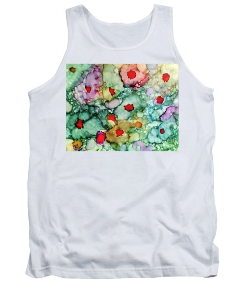 Tank Top featuring the painting Think Spring by Denise Tomasura