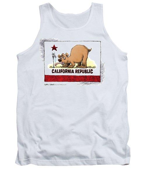 Thirsty California Flag Tank Top