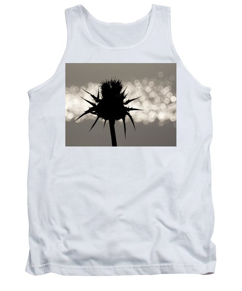 Thistle Silhouette - 365-11 Tank Top by Inge Riis McDonald