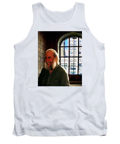 Thom At The Library Tank Top by Timothy Bulone