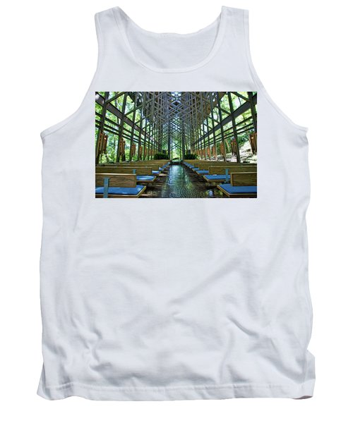 Tank Top featuring the photograph Thorncrown Chapel Interior by Cricket Hackmann