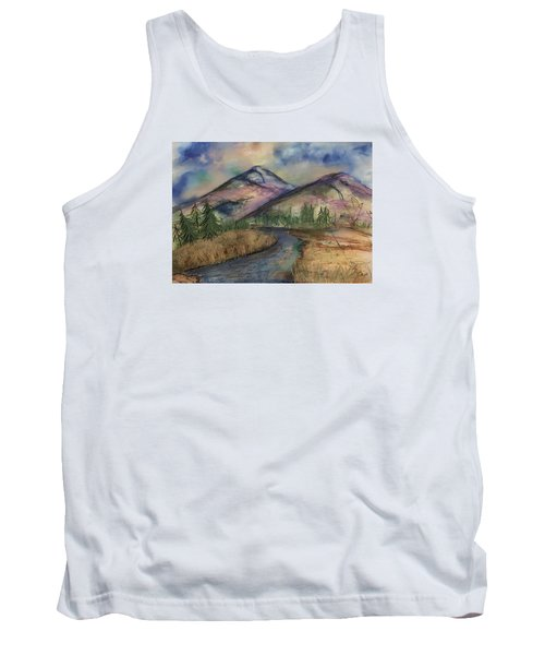 Tank Top featuring the painting Thoughts Of Glacier by Annette Berglund