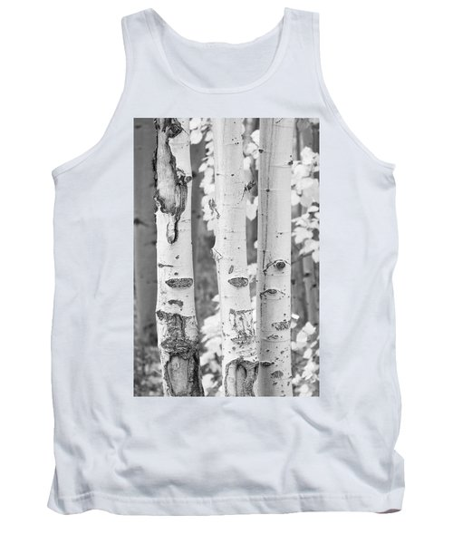 Three Aspens In Black And White  Tank Top