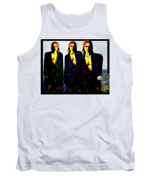 Three  Beautiful Triplet Ladies Tank Top