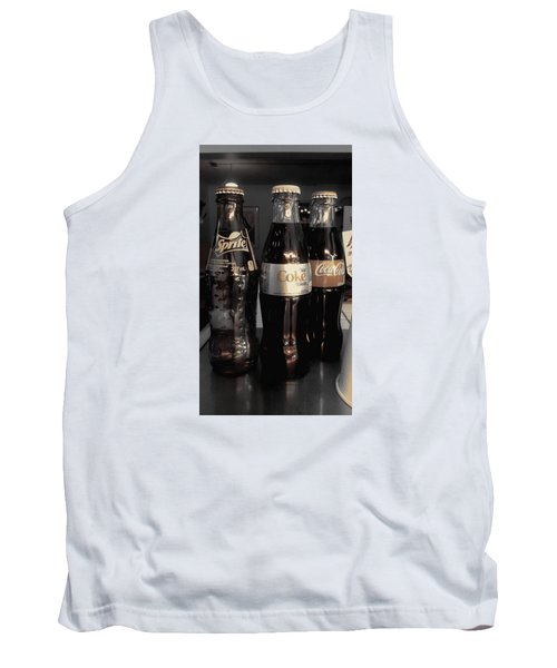 Tank Top featuring the photograph Three Bottles Full by Saad Hasnain