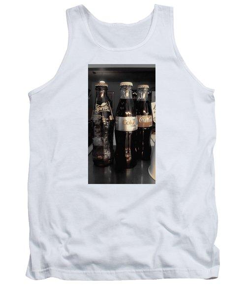 Three Bottles Full Tank Top by Saad Hasnain