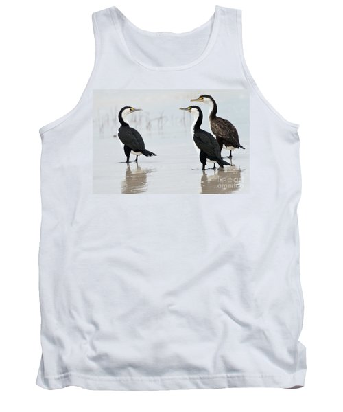 Tank Top featuring the photograph Three Cormorants by Werner Padarin