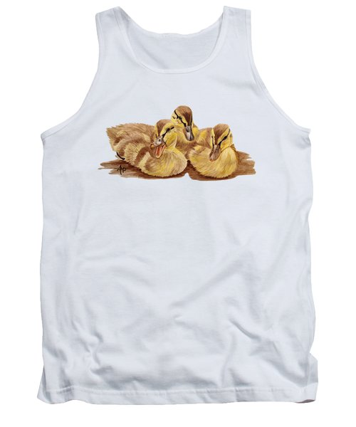 Three Ducklings Tank Top by Angeles M Pomata