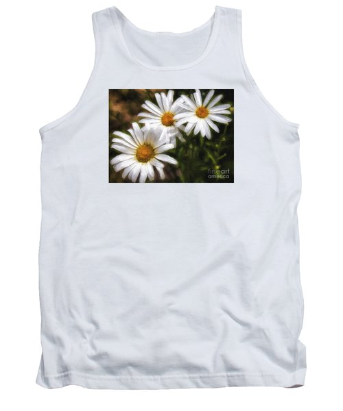 Three Flowers  ... Tank Top by Chuck Caramella