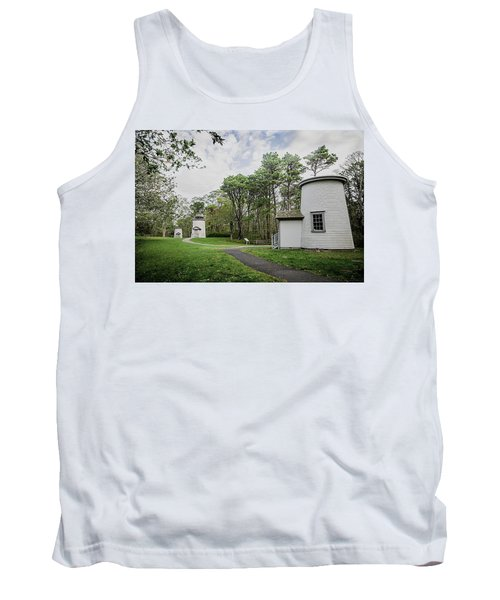 Three Sisters Lighthouses Tank Top by Patrice Zinck