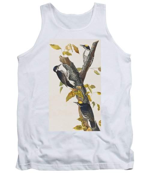 Three Toed Woodpecker Tank Top by John James Audubon