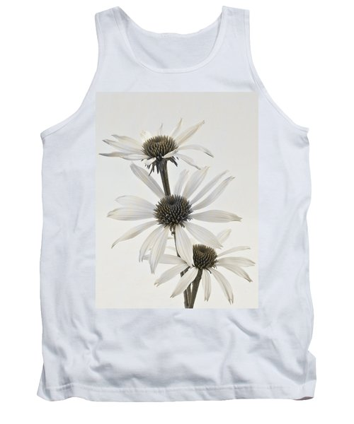 Three White Coneflowers Tank Top