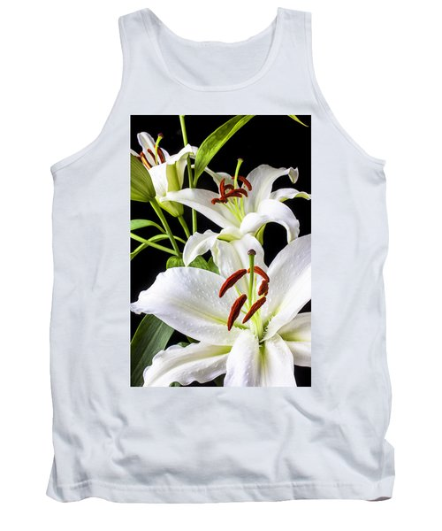 Three White Lilies Tank Top
