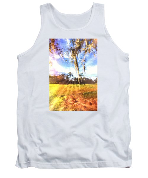 Tank Top featuring the painting Through The Moss by Annette Berglund
