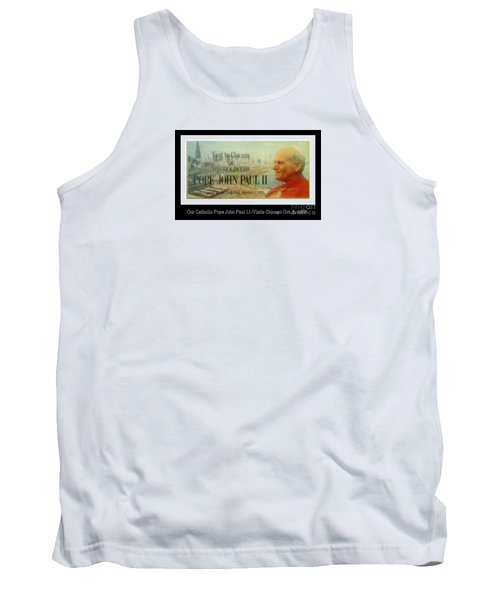 Tank Top featuring the photograph Ticket To Pope John Paul In Chicago 1979 by Sherri  Of Palm Springs