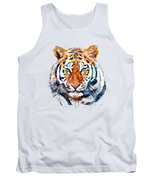Tiger Head Watercolor Tank Top