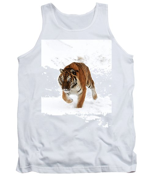 Tiger In Snow Tank Top