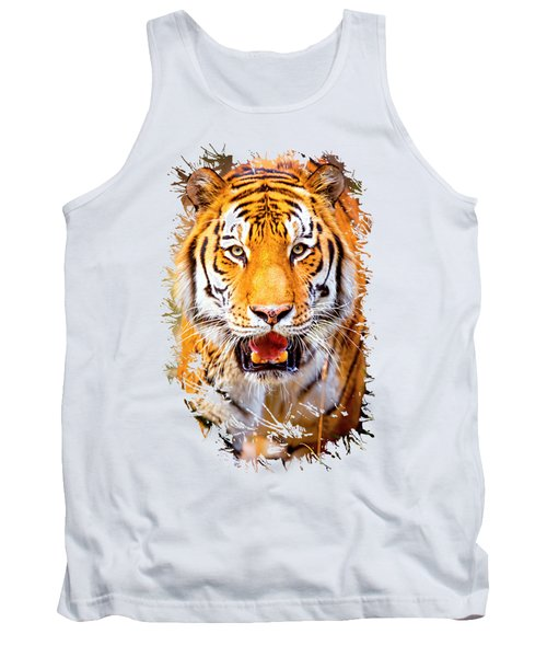Tiger On The Hunt Tank Top