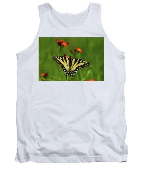 Tiger Swallowtail Butterfly Tank Top by Nancy Landry