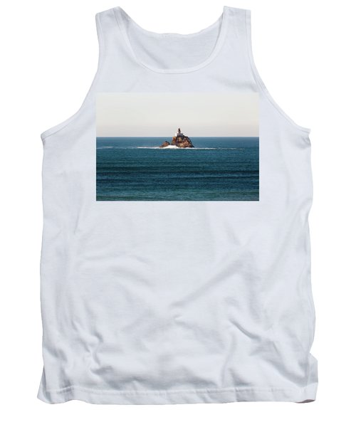 Tillamook Rock Lighthouse On A Calm Day Tank Top