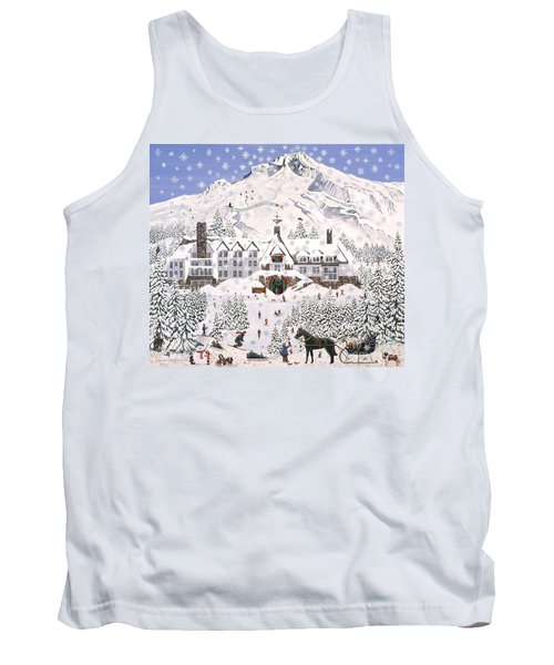 Tank Top featuring the painting Timberline Lodge by Jennifer Lake