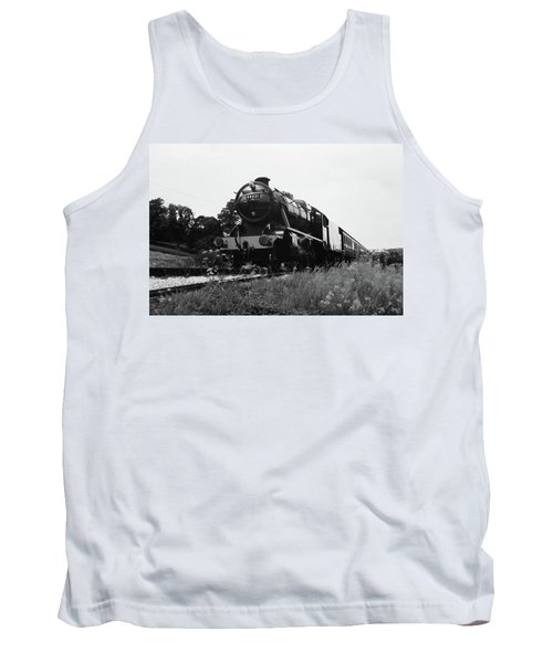 Tank Top featuring the photograph Time Travel By Steam B/w by Martin Howard