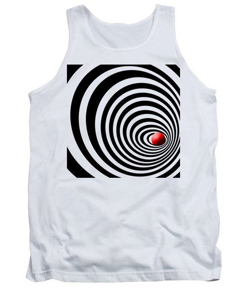 Time Tunnel Op Art Tank Top by Methune Hively