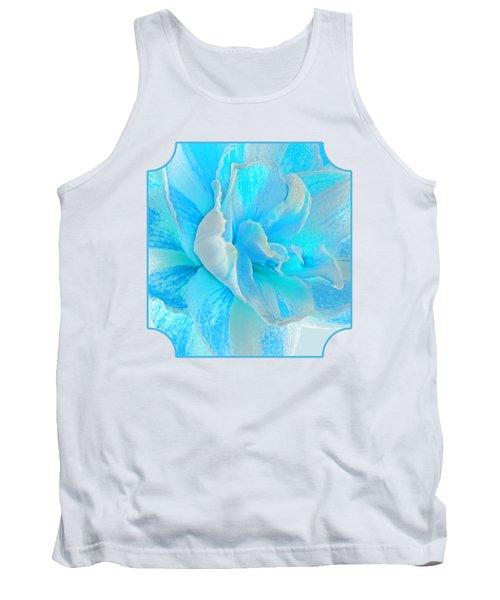 Timeless Beauty In Blue Tank Top