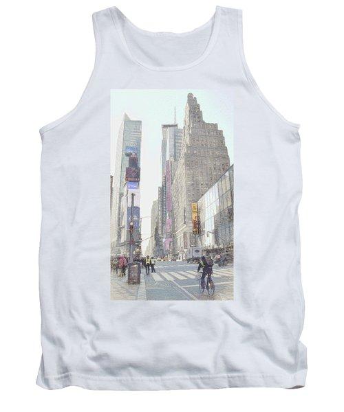 Times Square Street Scene Tank Top by Dyle Warren