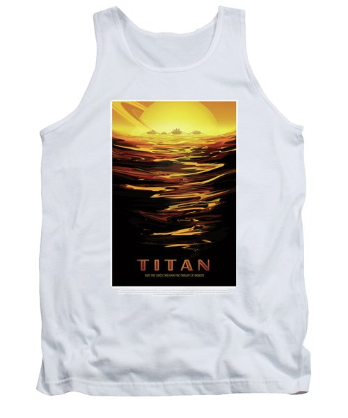 Titan - Ride The Tides Through The Throat Of Kraken - Vintage Na Tank Top