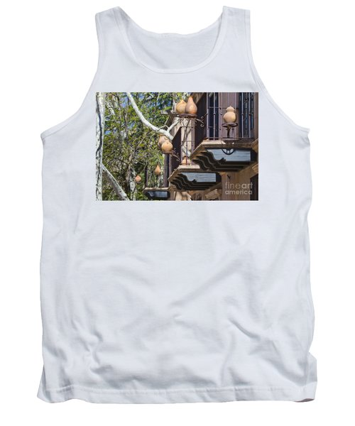 Tank Top featuring the photograph Tlaquepaque Balconies by Chris Dutton
