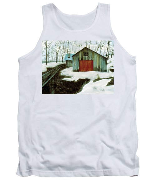 Tank Top featuring the painting To The Sugar House by Karen Zuk Rosenblatt