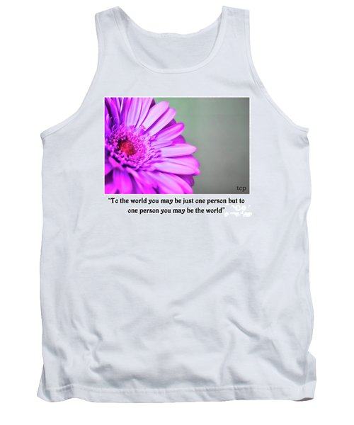 To The World Tank Top