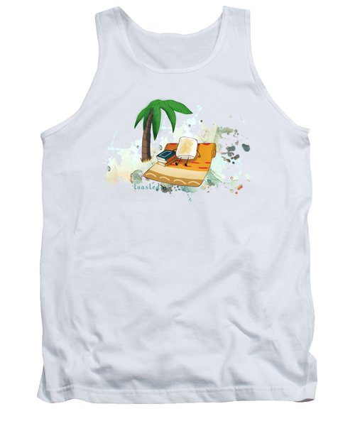 Tank Top featuring the digital art Toasted Illustrated by Heather Applegate