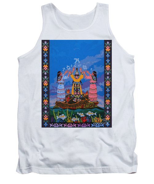Tank Top featuring the painting Together We Over Come Obstacles by Chholing Taha