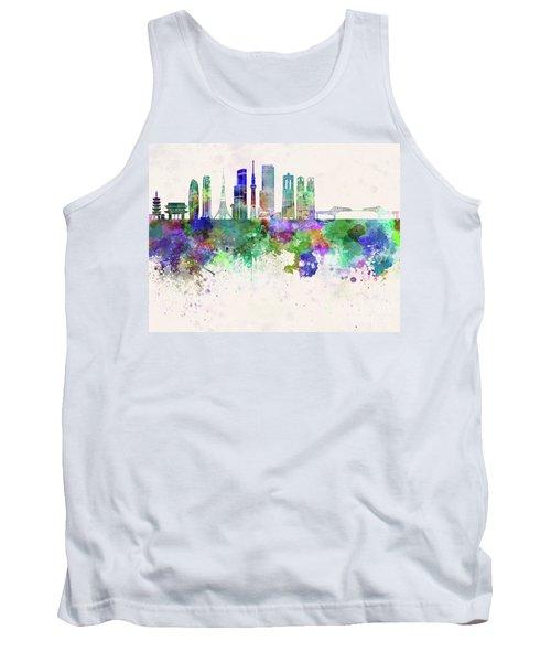 Tokyo V3 Skyline In Watercolor Background Tank Top