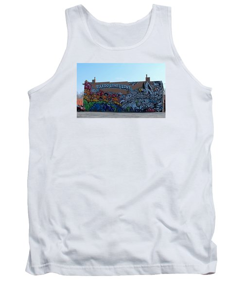 Tank Top featuring the photograph Toledo Loves Love by Michiale Schneider