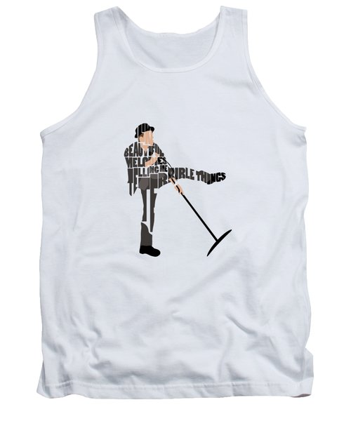 Tom Waits Typography Art Tank Top