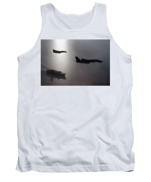 Tank Top featuring the photograph Tomcat Silhouette  by Peter Chilelli
