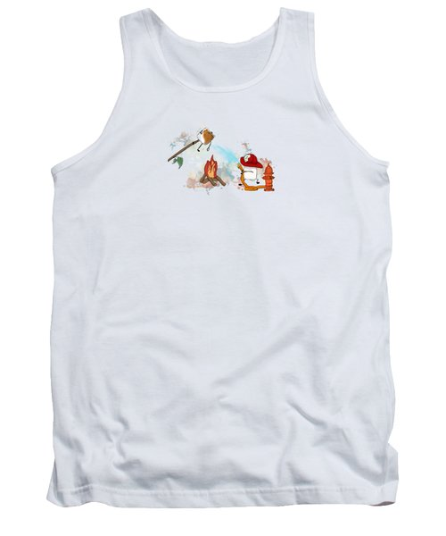 Tank Top featuring the digital art Too Toasted Illustrated by Heather Applegate